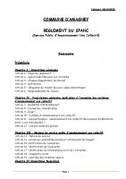 RÉGLEMENT DE L'ASSAINISSEMENT NON COLLECTIF